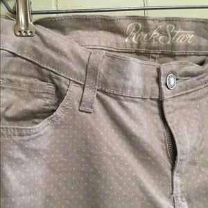 Old Navy Rockstar khaki wh polka dot skinny jeans